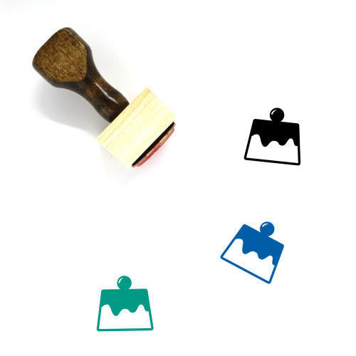Pudding Wooden Rubber Stamp No. 36
