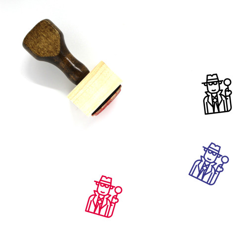 Inspector Wooden Rubber Stamp No. 5