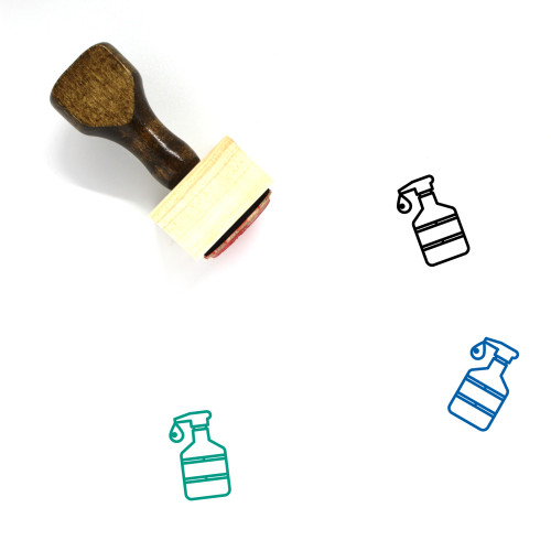 Atomizer Wooden Rubber Stamp No. 12