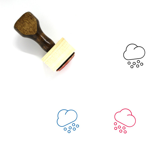 Snowing Wooden Rubber Stamp No. 78