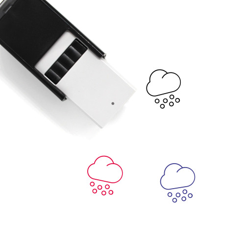 Snowing Self-Inking Rubber Stamp No. 78