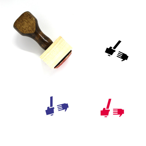 Relay Wooden Rubber Stamp No. 4