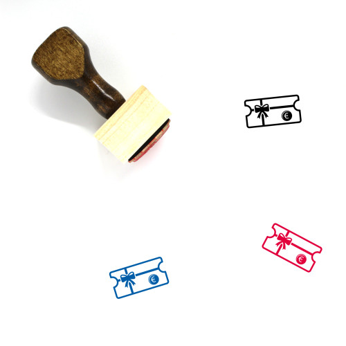 Gift Card Wooden Rubber Stamp No. 42