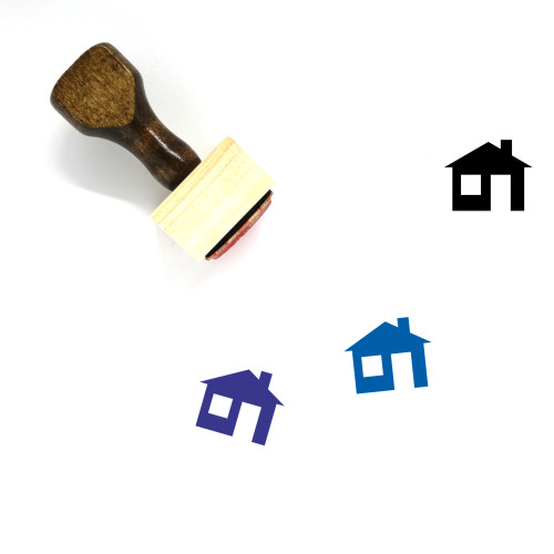 House Wooden Rubber Stamp No. 447