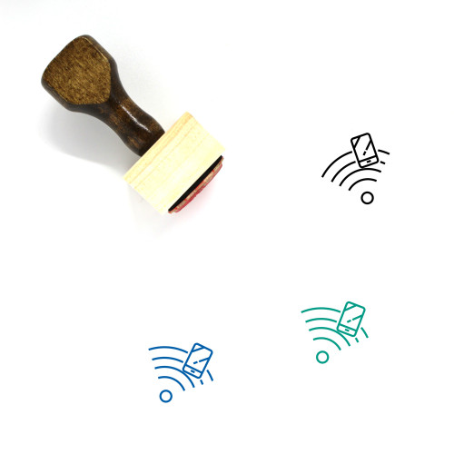 Wifi Service Wooden Rubber Stamp No. 14