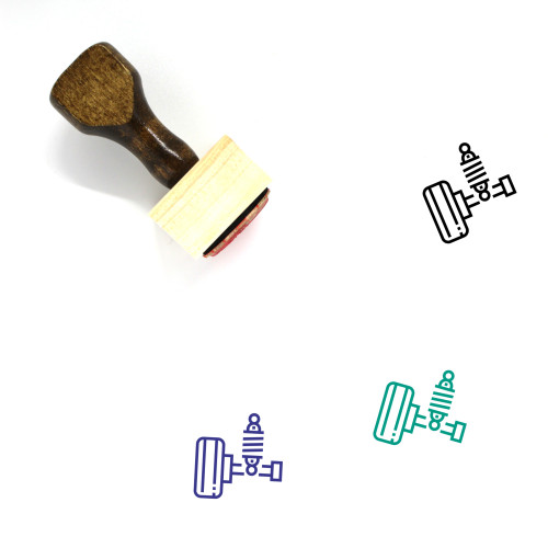 Suspension Wooden Rubber Stamp No. 40