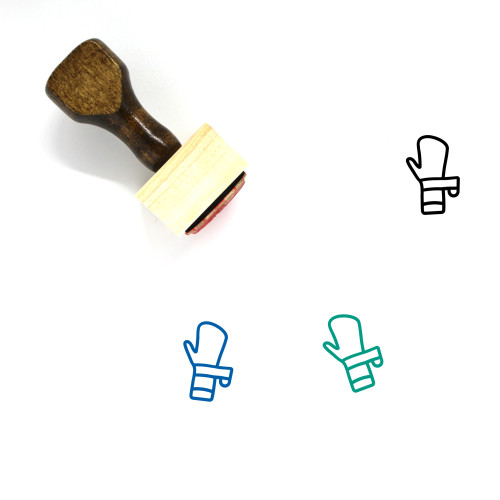 Hand Bandage Wooden Rubber Stamp No. 1