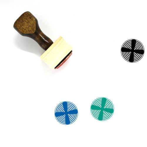 Fan Wooden Rubber Stamp No. 124