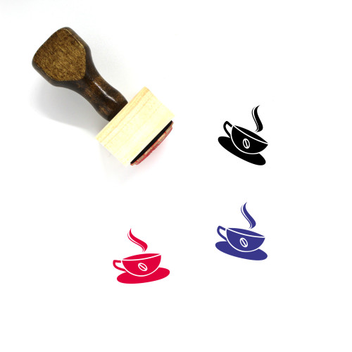 Hot Coffee Wooden Rubber Stamp No. 41