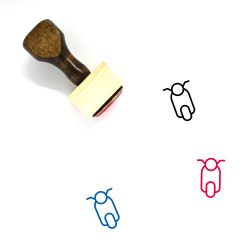 Scooter Wooden Rubber Stamp No. 46