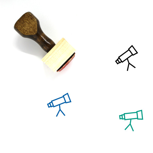 Look Wooden Rubber Stamp No. 43