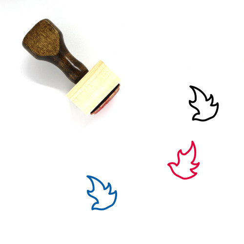 Fire Wooden Rubber Stamp No. 156