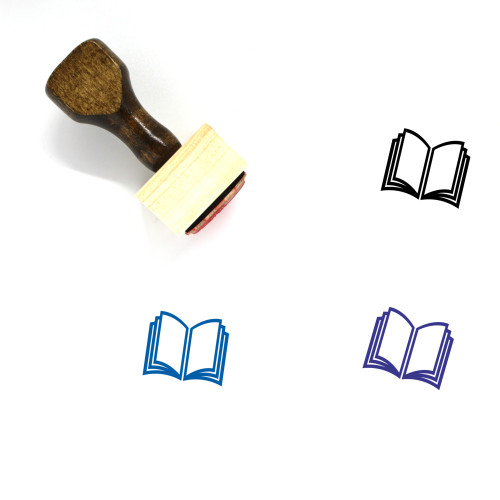 Book Wooden Rubber Stamp No. 734