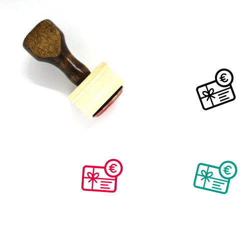 Gift Card Wooden Rubber Stamp No. 43