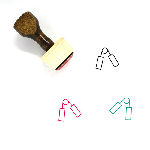Hand Grip Exerciser Wooden Rubber Stamp No. 2