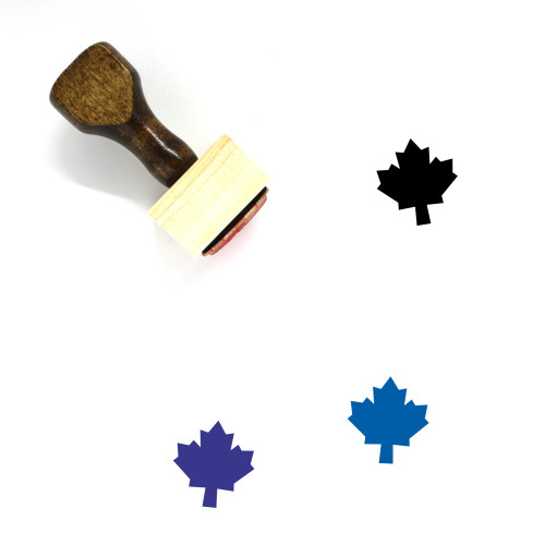 Maple Leaf Wooden Rubber Stamp No. 48