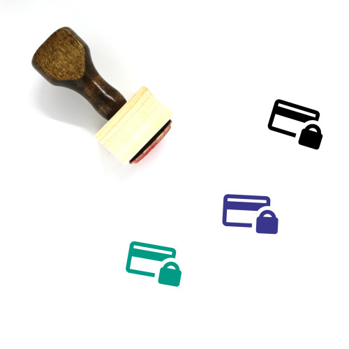 Secure Payment Wooden Rubber Stamp No. 40