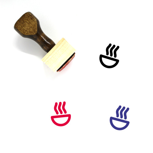 Soup Wooden Rubber Stamp No. 27