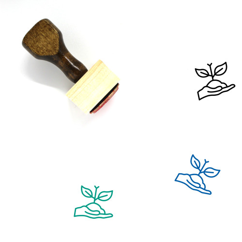 Soil Wooden Rubber Stamp No. 10