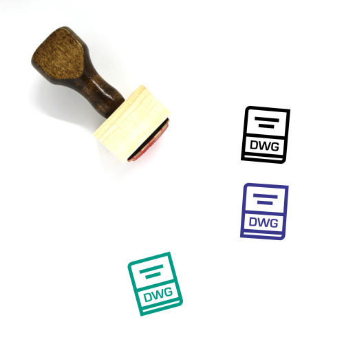 Dwg Wooden Rubber Stamp No. 36
