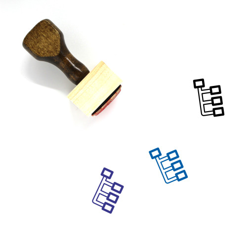 Flow Chart Wooden Rubber Stamp No. 61