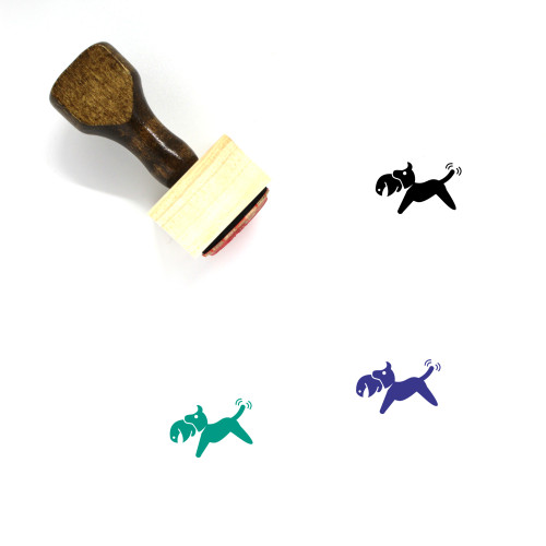 Hunting Dog Wooden Rubber Stamp No. 1