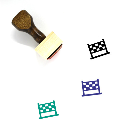 Net Wooden Rubber Stamp No. 74