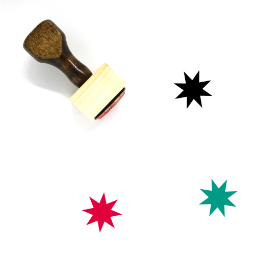 Star Wooden Rubber Stamp No. 916