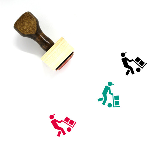 Logistic Woker Wooden Rubber Stamp No. 1