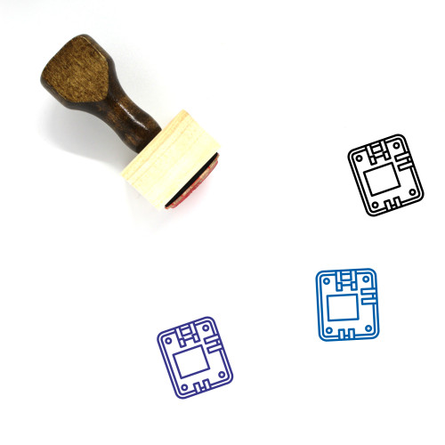 Motherboard Wooden Rubber Stamp No. 36