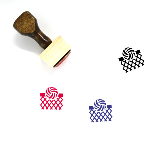 Ball Wooden Rubber Stamp No. 183