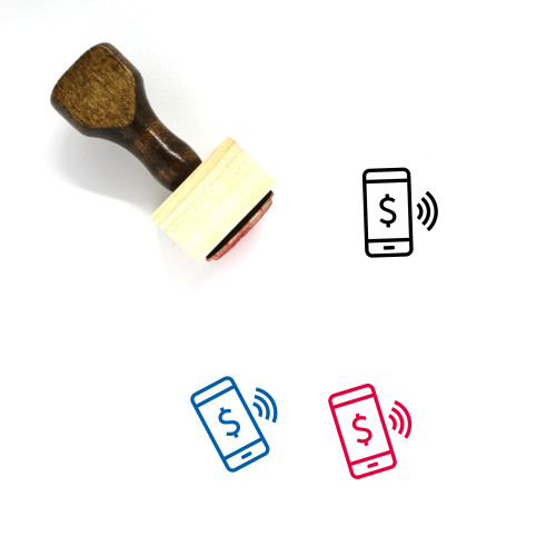 Mobile Wooden Rubber Stamp No. 175