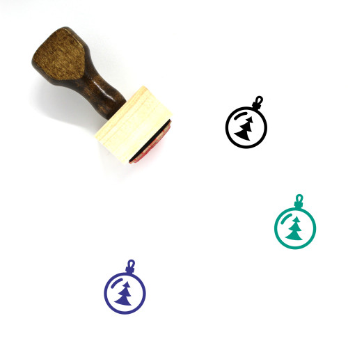 Christmas Ornament Wooden Rubber Stamp No. 117