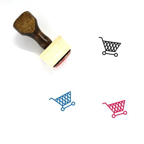 Shopping Cart Wooden Rubber Stamp No. 340