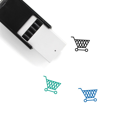 Shopping Cart Self-Inking Rubber Stamp No. 340