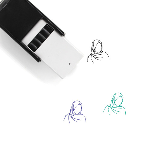 Hooded Girl Self-Inking Rubber Stamp No. 1