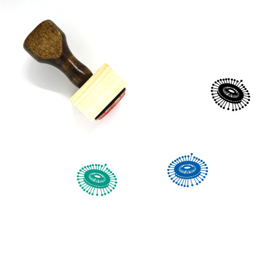 Needle Wooden Rubber Stamp No. 85