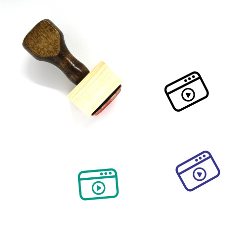 Video Marketing Wooden Rubber Stamp No. 41