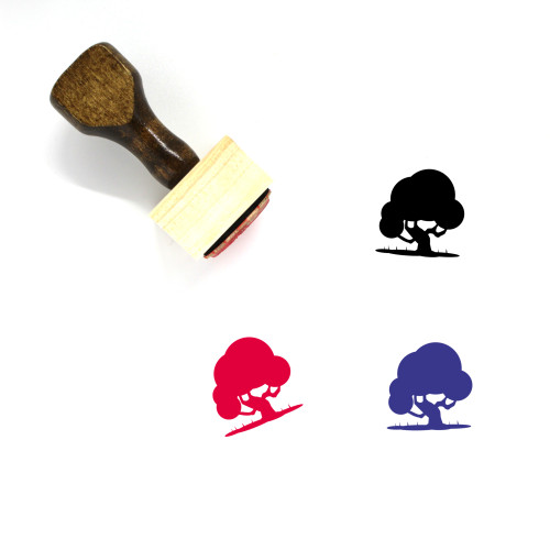 Tree Wooden Rubber Stamp No. 255