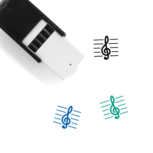 Treble Clef Self-Inking Rubber Stamp No. 13
