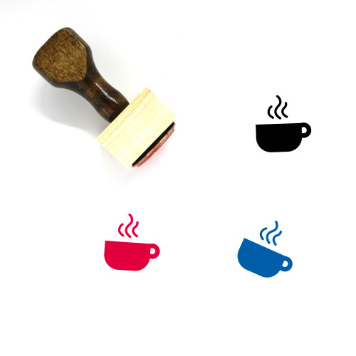 Hot Drink Wooden Rubber Stamp No. 5