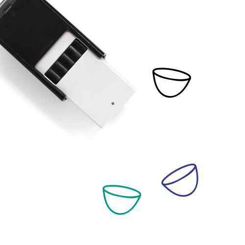 Bowl Self-Inking Rubber Stamp No. 75
