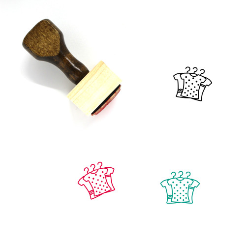 Clothes Wooden Rubber Stamp No. 202