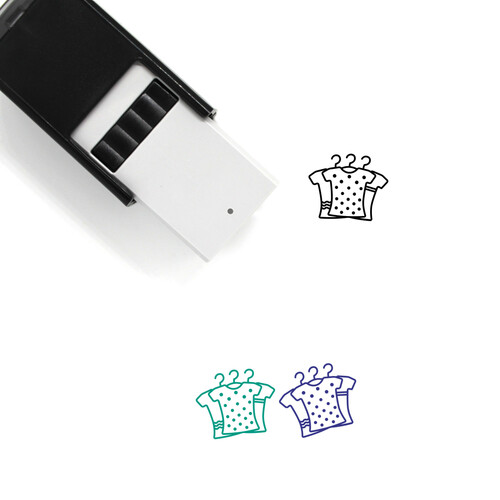 Clothes Self-Inking Rubber Stamp No. 202