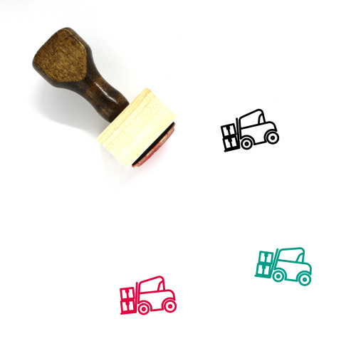 Forklift Wooden Rubber Stamp No. 49