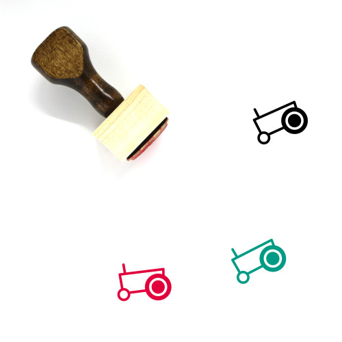 Tractor Wooden Rubber Stamp No. 104