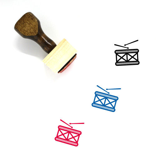 Drum Wooden Rubber Stamp No. 101