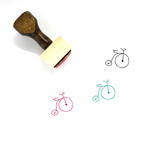 Penny Farthing Wooden Rubber Stamp No. 22