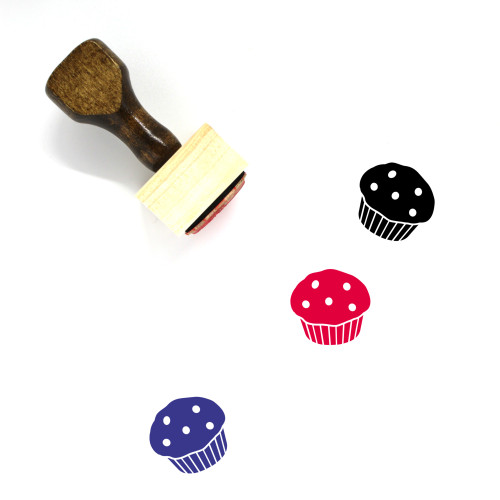 Muffin Wooden Rubber Stamp No. 30
