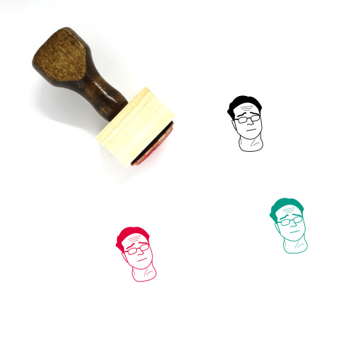 Leonard Hofstader Wooden Rubber Stamp No. 1